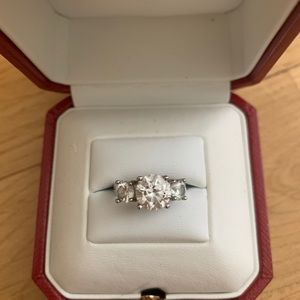 Crystal ring size 6